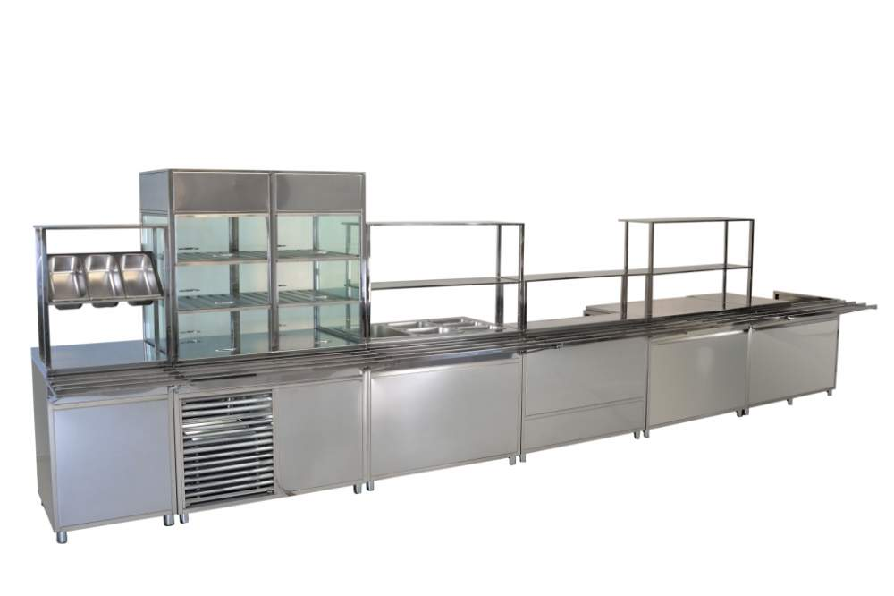 Buy Line of distribution of food. Equipment for kitchen of restaurant.