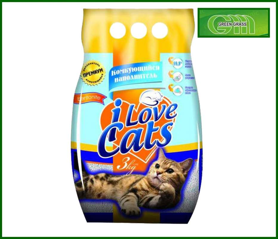 Бентонитовый комкующийся наполнитель для кошек