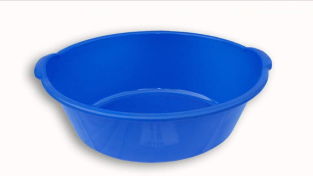 Купить Таз пластмассовый синий с ручками