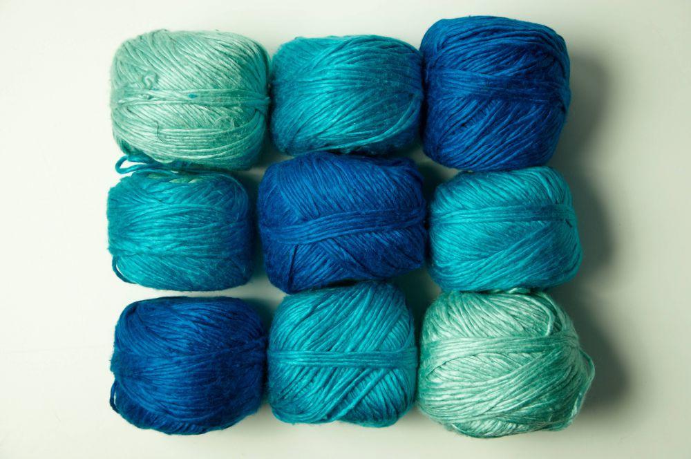 Вязание шелковой нитью