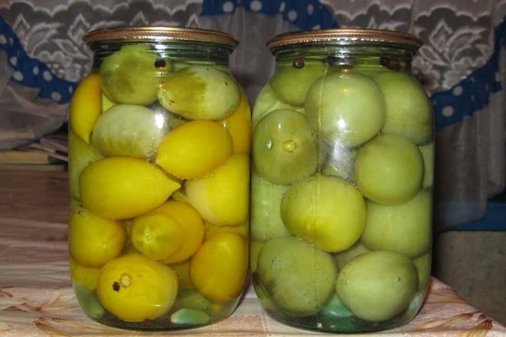 Консервация зеленых помидоров рецепты с фото