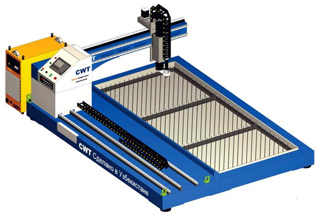 Установка плазменной резки листового металла УРМ-1100