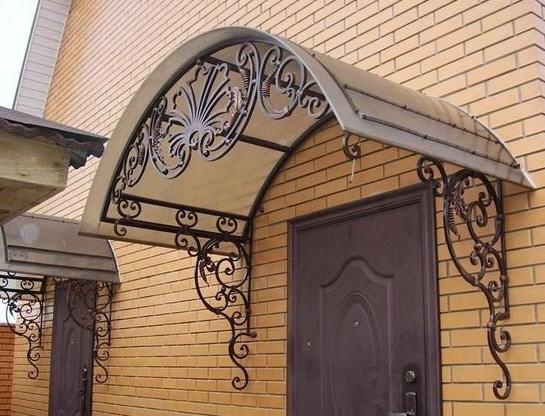 Навесы и козырьки балконные из металла