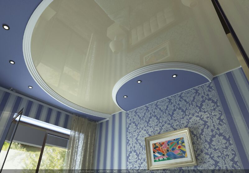 Buy Stretch ceiling oval, monophonic