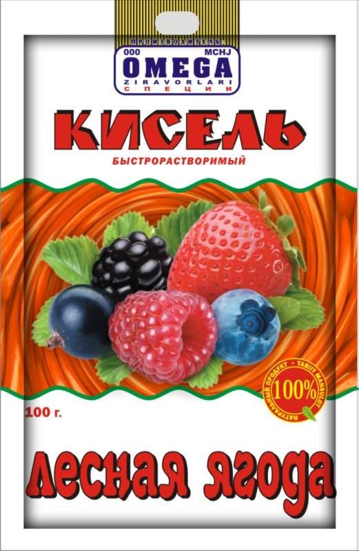 Кисель лесная ягода быстрорастворимый