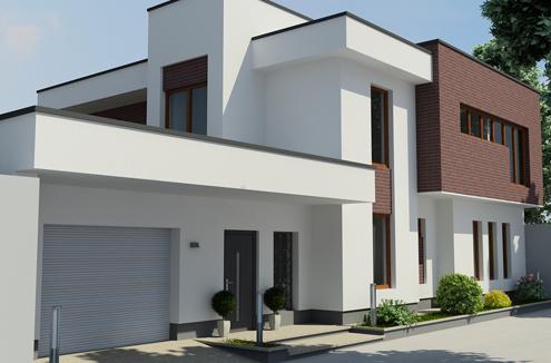 Купить Дизайн фасада частного жилого дома