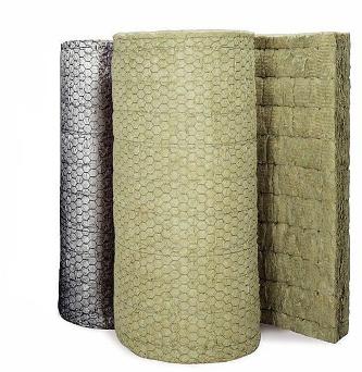 Прошивных матов, в том числе и матов на металлической сетке, прошитых нержавеющей проволокой и облицованных чистой ALU фольгой (группа горючести НГ)