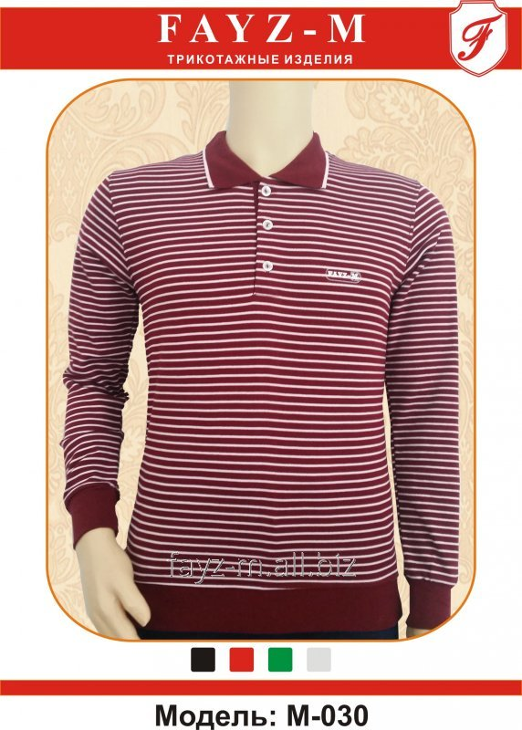Buy T-shirt man's the POLO INTERLOK with long sleeves and strips