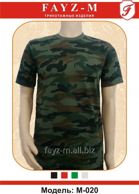Buy T-shirt man's with short sleeves kamufulyazh