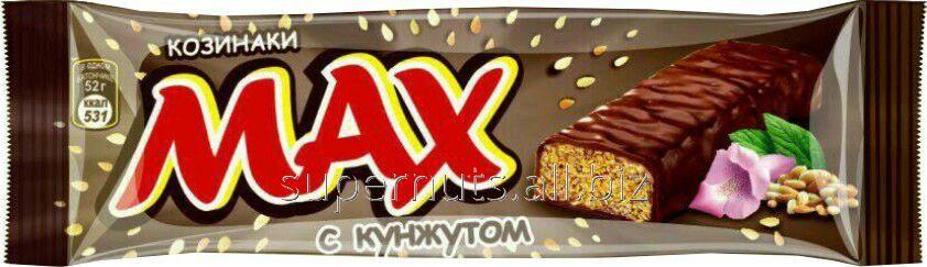 Шоколадный батончик Max с кунжутом