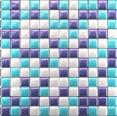 Купить Стеклянная мозаика Темно-фиолетовый, голубой, белый