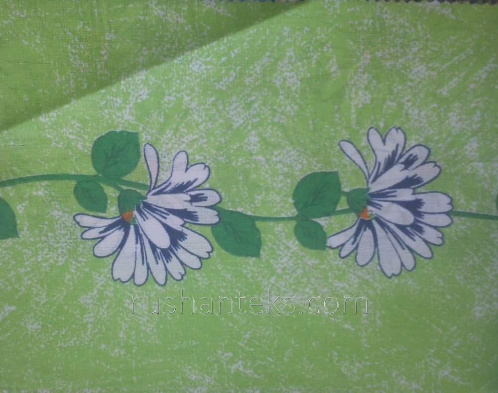 Printed sheeting fabric cloth vyyun green