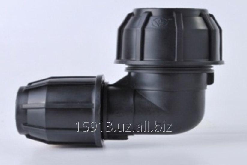 Отвод полиэтиленовый 90 градусов Угольник  - компрессионный