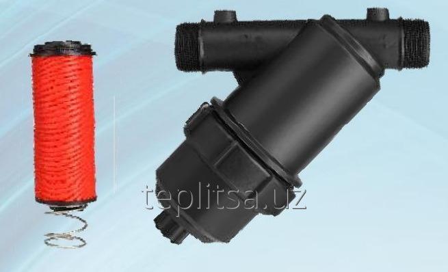 """Купить  Дисковый фильтр воды (6м3/час) для системы капельного полива 1""""Y Тип"""