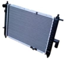Радиатор АТ на Matiz (M150)