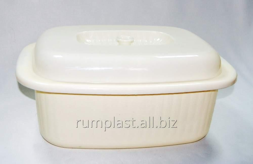 Buy Bread box white with a cover