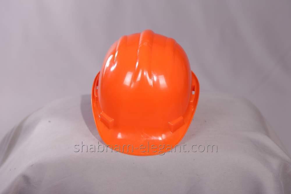 El casco anaranjad