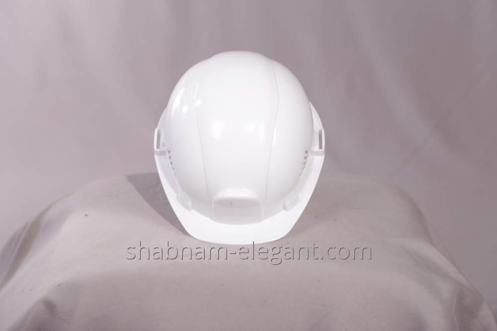 The helmet is construction white