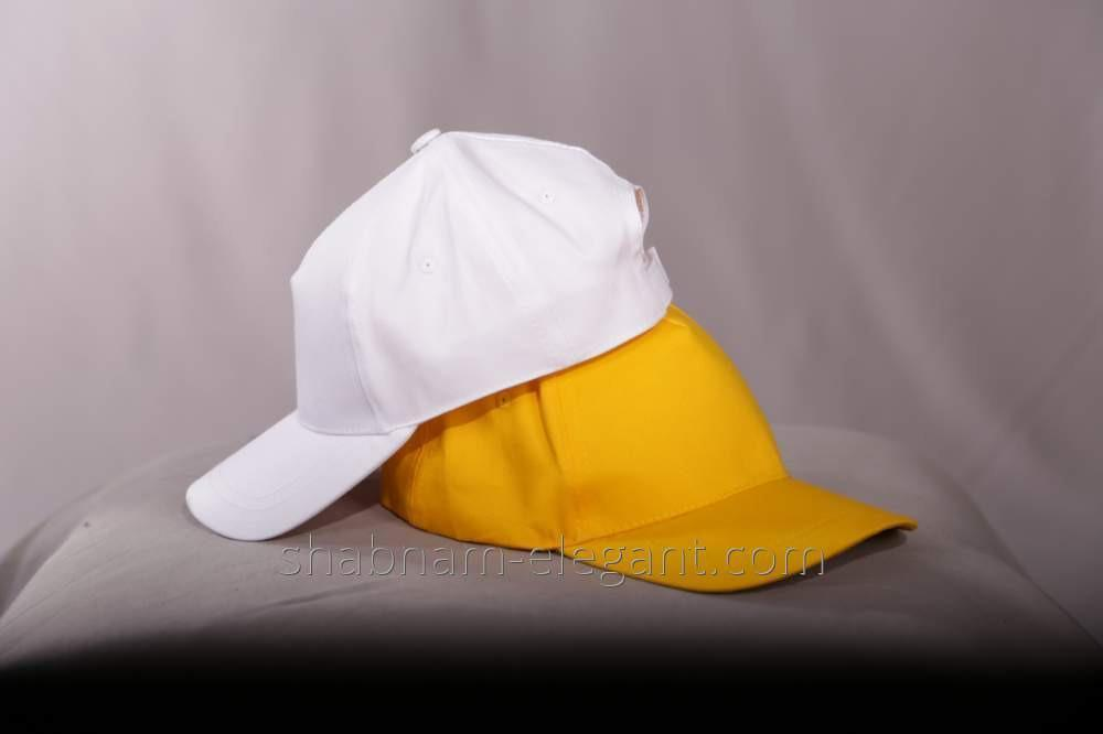 The baseball cap is yellow