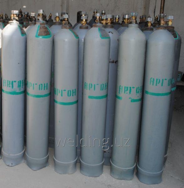 Газообразный аргон (Ar) по ГОСТ 10157-79 высшего сорта, в стандартных 40-ка л баллонах