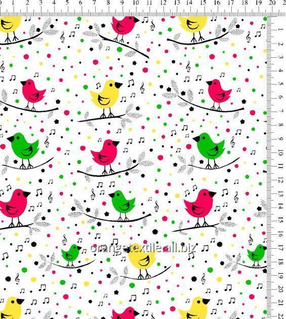 Ткани для детского постельного белья цветное