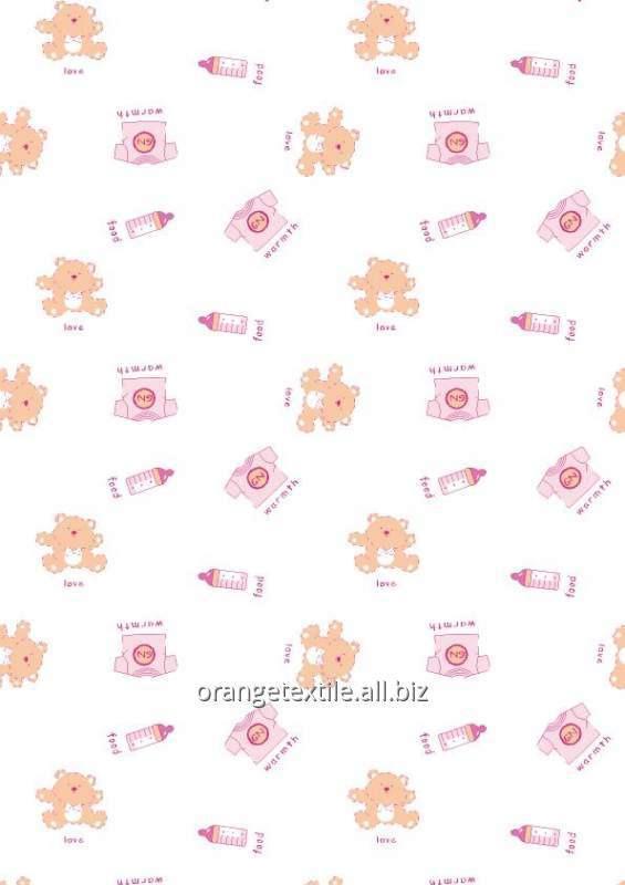 Ткани 100% хлопок для детского пастельного белья