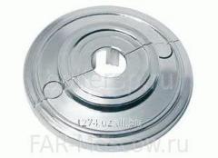 Серебристая пластиковая розетка D=12 мм, артикул