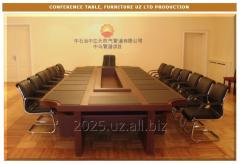 Office tables for a conference hall