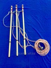 Переносные заземления Вл 1-10-35 kV (трехфазные), Вл 0,4-1 kV (трехфазные, 5-лучевые).