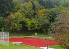 Rubber coatings for tennis-courts