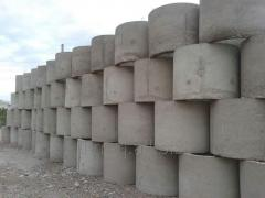 Concrete collars for lining and facing of wells,