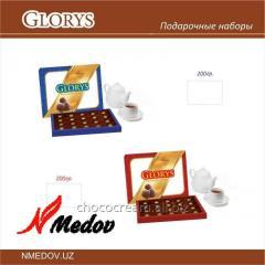 Kutularda çikolatalı şekerlemeleri