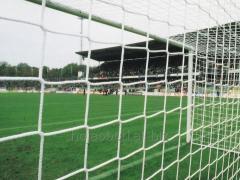 Tied goal nets for soccer