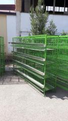 Cage equipment for poultry farming
