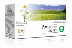 Camomile flowers in the filter packages 25gr