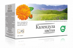 Calendula flowers in the filter packages 25gr