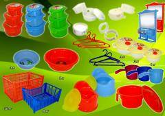 Household goods made of plastic