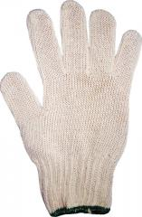 Gloves knitted 10 class of knitting