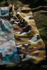 Etoffes de camouflage (camouflage par la couleur)