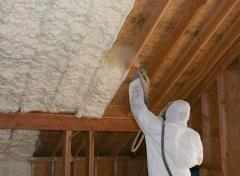 Polyurethane foam spraying