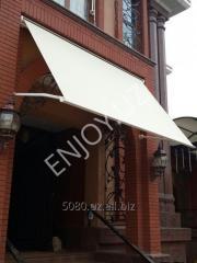 Window marquises - elbow sliding canopies