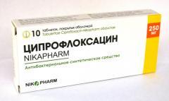 Лекарство Ципрофлоксацин-Nikapharm