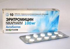 Лекарство Эритромицин-Nikapharm