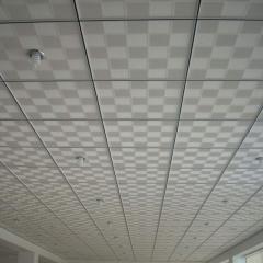 Потолок гипсовый Армстронг двухцветный
