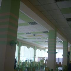 Потолок гипсовый Армстронг для столовых