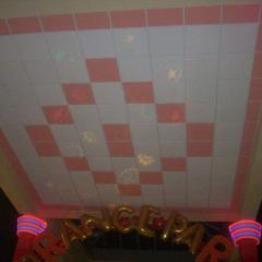 Потолок гипсовый Армстронг, два цвета