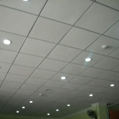 Потолок гипсовый Армстронг стандартный, цвет белый