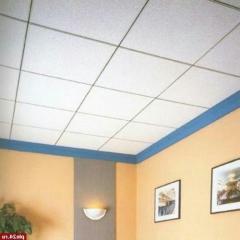 Потолок гипсовый Армстронг стандартный, ровный