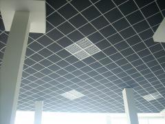 Потолок гипсовый Армстронг, цвет серый