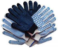 Los guantes de algodón